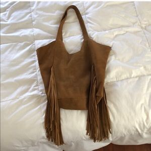 RVCA suede leather purse brown GUC
